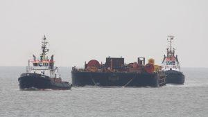 Vanmiddag is de BUGSIER 2 met de H-122 binnengekomen voor Vlissingen Sloe