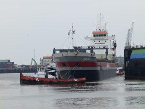 WATERPOORT en WATERLELIE verhaalden de ex VECHTDIEP bij de werf Kon Niestern Sander te Delfzijl.