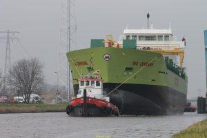 Transport nieuwbouwschip INA LEHMANN