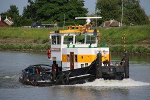 Johanna van der Wees op de Hollandsche IJssel