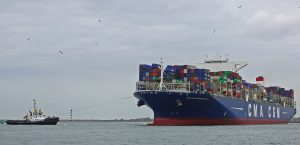 MULTRATUG 31 assisting CMA CGM BOUGAINVILLE at Beerkanaal mid June.