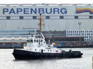 NORWEGIAN JOY uitgedokt bij de Meyer Werft te Papenburg.