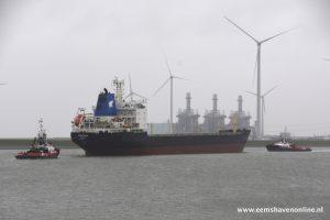 Bulkcarrier vertrekt op zondagmiddag vanuit de Eemshaven