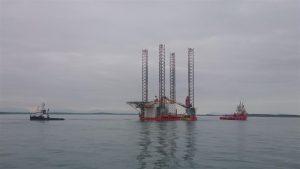 BB Troll and Viking towing Seafox 2 to Irish Sea