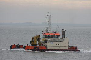 C-Fenna op 09-10-17 naar de Sloehaven.