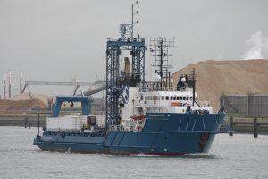 Ocean Vantage vertrok uit de Bijleveldhaven 23-10-17.