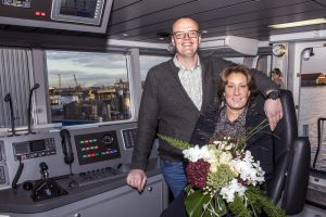 ISA Towage B.V. celebrates naming of new Shoalbuster 3209 ISA at Damen Shipyards Hardinxveld