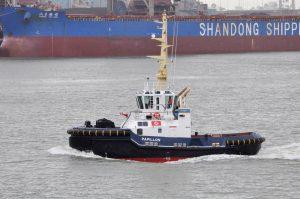 De Boer/Dutch Dredging and Iskes Towage take delivery of ASD 2310 SD at Damen Shipyards Hardinxveld
