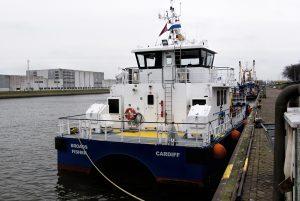 BROAD FISHER afgemeerd in Den Helder
