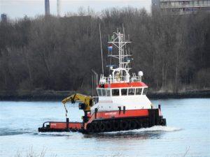 MTS VIGILANT en de DUTCH PIONEER gespot op de Oude Maas