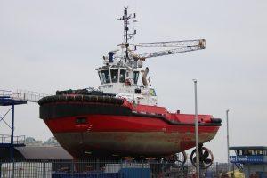 SMIT EBRO bij scheepswef de Haas