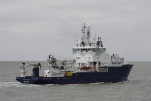 Relume uit de Buitenhaven naar zee op 05-04-18