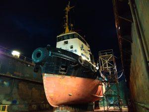 Multratug 6 in dok bij Shipyard Reimerswaal
