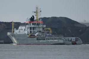SOVEREIGN terug in rotterdam na trials op de Noordzee.