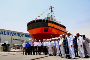 Damen ASD Tug 2913 for new deep-water bulk terminal at Saqr Port launched by Albwardy Damen, UAE