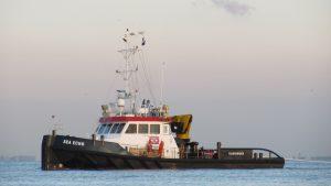 Sea Echo & MCS Ailsa met drijvende leiding