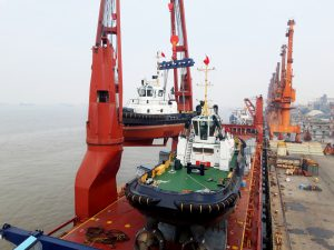 24 Damen stock vessels to arrive from China in the Port of Rotterdam via Arctic route