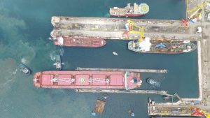 Drijvende dok Damen Shiprepair Curaçao operationeel