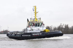 Damen celebrates Multraship Carrousel RAVE Tug winning KNVTS Ship of the Year Award