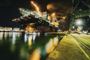 Saipem 7000 semi-submersible at Damen Verolme Rotterdam for DPS upgrade