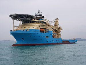 Maersk Inventor, MMA Crystal, ASL Raider, Tanjung Piai 2