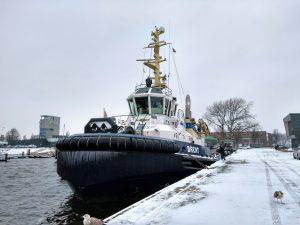 Vlissingse Binnenhavens in de sneeuw