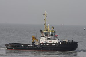 DMS STORK met OFFSHORE 2 naar zee