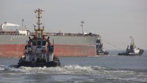 MULTRATUGS met ANTONIS in opvaart naar Antwerpen.