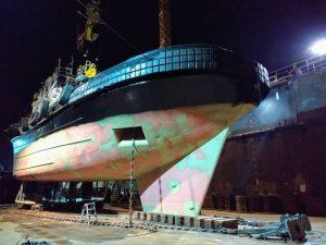 Multratug 11 in dok bij Shipyard Reimerswaal