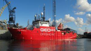 Geo Ocean IV, Annie IV, Sandra-F, Braakman, Terneuzen.