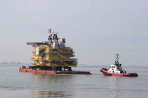PEGASUS met BOABARGE naar zee ( DEEL II )