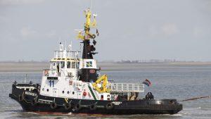 MULTRATUG 17 en MULTRATUG 11 met de ATLANTICO DUE op sleep vanuit Zeebrugge naar Gent.