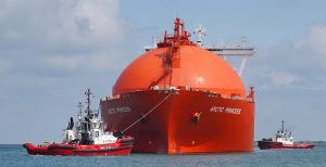 AANKOMST LNG TANKER ARCTIC EXPRESS 1-8-2019