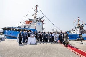 Handover celebration for thirteen Damen tugs Jawar Al Khaleej Shipping and General Company for Ports of Iraq