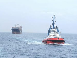 KOTUG PROVIDES PROMPT SALVAGE ASSISTANCE TO STEERLESS CONTAINER VESSEL MV EM-OINOUSSES