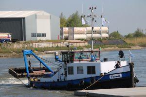 Fenna op de Hollandsche IJssel