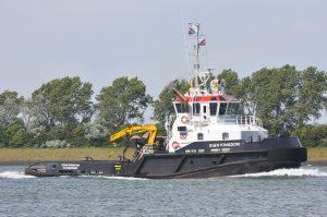 Dian Kingdom, VB Schelde, Neptun 11, GPS Cambria op de Nieuwe Waterweg