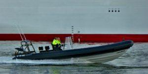 VB PANTHER en VB CHEETAH met cruiseschip IONA
