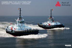 Damen bouwt voor Antwerpen twee IMO Tier IIIRSD 2513 slepers