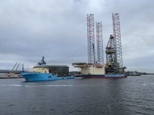 JU Maersk Resilient installed in Dutch Sector