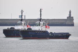 Nieuwe sleepboten aangekomen in Zeebrugge